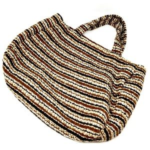 Vintage 1970s Handmade Woven Handbag
